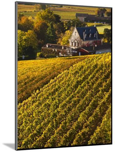 France, Aquitaine Region, Gironde Department, St-Emilion, Wine Town, Unesco-Listed Vineyards-Walter Bibikow-Mounted Photographic Print