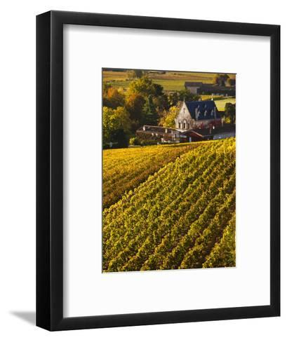 France, Aquitaine Region, Gironde Department, St-Emilion, Wine Town, Unesco-Listed Vineyards-Walter Bibikow-Framed Art Print