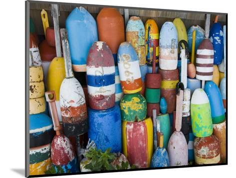 Lobster Buoys, Rockport Harbour, Rockport, Cape Ann, Massachusetts, USA-Walter Bibikow-Mounted Photographic Print