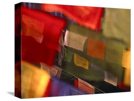 Prayer Flags Festoon the Stupa at Boudinath, a Centre of Tibetan Buddhism, Kathmandu, Nepal-Paul Harris-Stretched Canvas Print