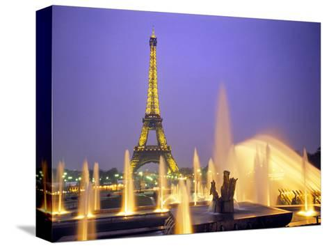 Eiffel Tower, Paris, France-Peter Adams-Stretched Canvas Print