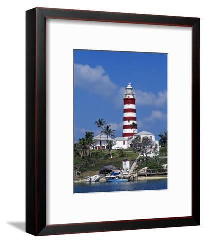 Lighthouse at Hope Town on the Island of Abaco, the Bahamas-William Gray-Framed Art Print
