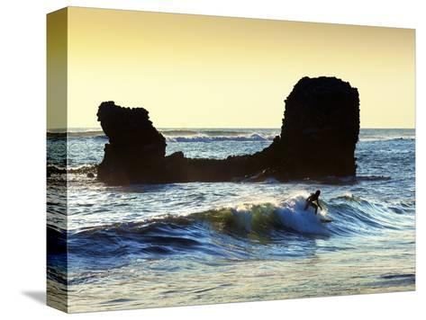 Playa El Tunco, El Salvador, Pacific Ocean Beach, Popular With Surfers, Great Waves-John Coletti-Stretched Canvas Print