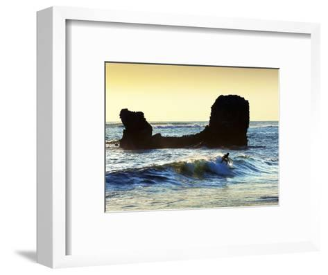 Playa El Tunco, El Salvador, Pacific Ocean Beach, Popular With Surfers, Great Waves-John Coletti-Framed Art Print