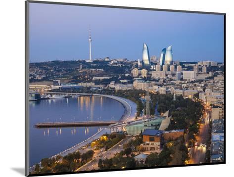 Azerbaijan, Baku, View of City Looking Towards the Baku Business Center on the Bulvur-Jane Sweeney-Mounted Photographic Print