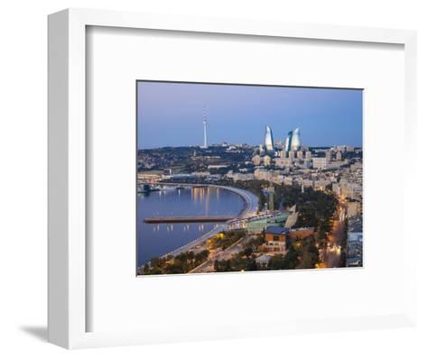Azerbaijan, Baku, View of City Looking Towards the Baku Business Center on the Bulvur-Jane Sweeney-Framed Art Print