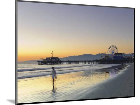 California, Los Angeles, Santa Monica Beach, Pier and Ferris Wheel, USA-Michele Falzone-Mounted Photographic Print