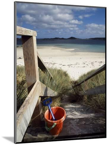 Bucket and Spade on the Steps Leading to the Beach Near Blockhouse Point, Tresco-Fergus Kennedy-Mounted Photographic Print