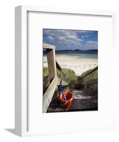 Bucket and Spade on the Steps Leading to the Beach Near Blockhouse Point, Tresco-Fergus Kennedy-Framed Art Print