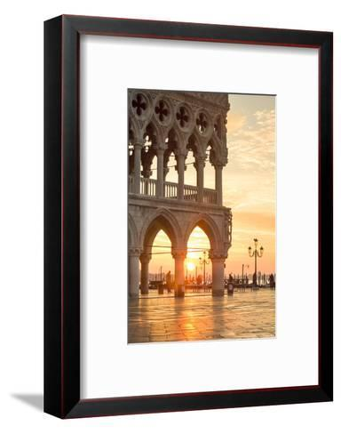 Italy, Veneto, Venice. Sunrise over Piazzetta San Marco and Doges Palace-Matteo Colombo-Framed Art Print