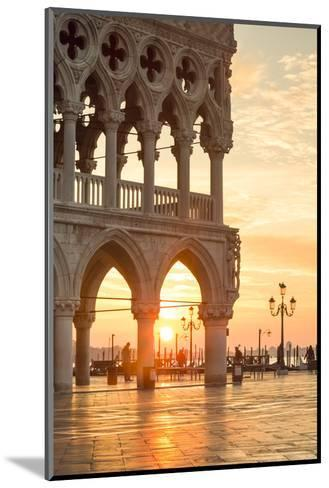 Italy, Veneto, Venice. Sunrise over Piazzetta San Marco and Doges Palace-Matteo Colombo-Mounted Photographic Print