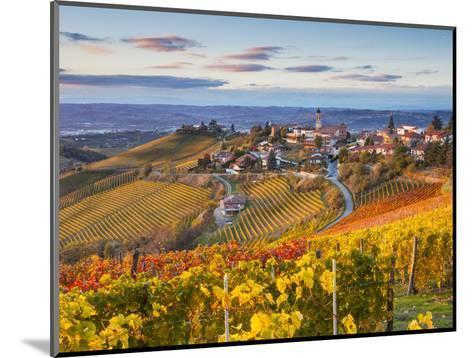 Vineyards, Treiso, Nr Alba, Langhe, Piedmont (or Piemonte or Piedmonte), Italy-Peter Adams-Mounted Photographic Print
