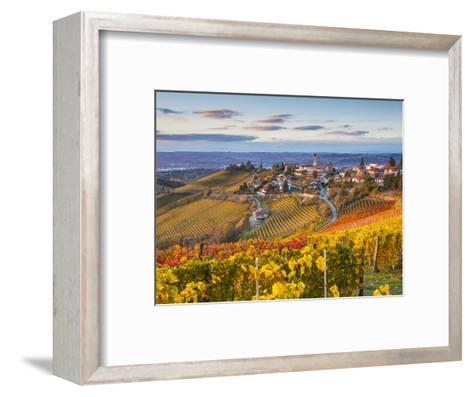 Vineyards, Treiso, Nr Alba, Langhe, Piedmont (or Piemonte or Piedmonte), Italy-Peter Adams-Framed Art Print