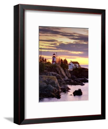 New Brunswick, Campobello Island, East Quoddy Lighthouse, Canada-Alan Copson-Framed Art Print