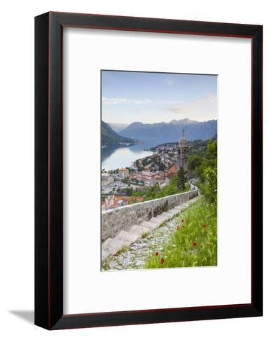 Elevated View over Kotor's Stari Grad (Old Town) and the Bay of Kotor, Kotor, Montenegro-Doug Pearson-Framed Art Print
