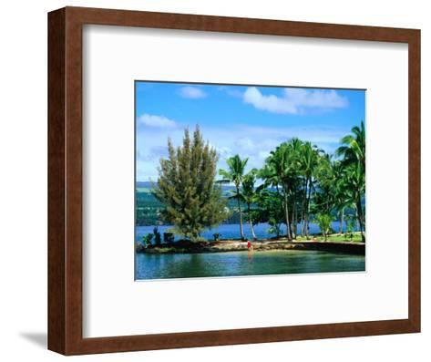 Coconut Island, a Small Island in Hilo Bay, Hawaii, USA-Ann Cecil-Framed Art Print