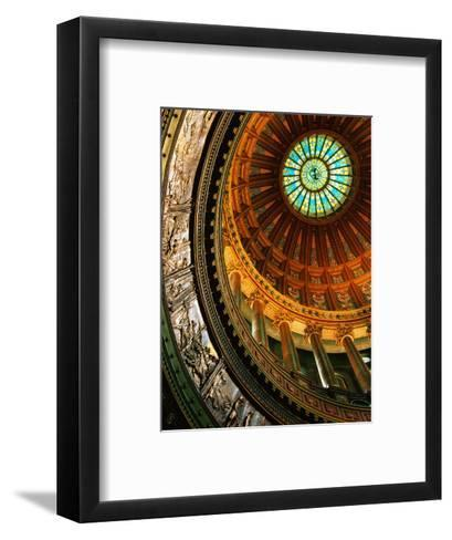 Interior of Rotunda of State Capitol Building, Springfield, United States of America-Richard Cummins-Framed Art Print