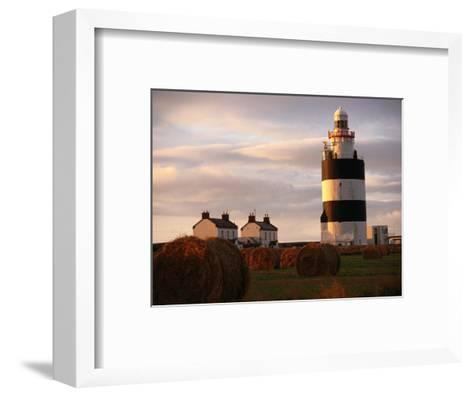 The Hook Head Lighthouse in County Wexford Was Built in the 13th Century Ireland-Doug McKinlay-Framed Art Print