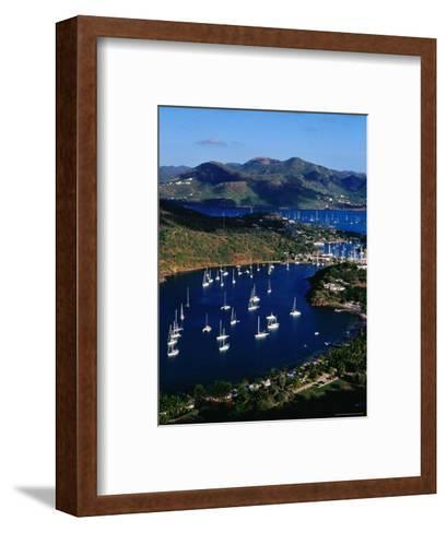 Overview of English Harbour from Shirley Heights-Richard I'Anson-Framed Art Print