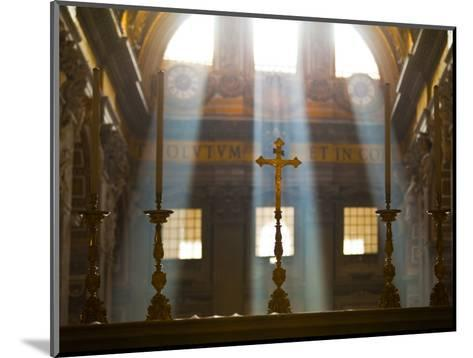 Crosses on Altar in St Peter's Basilica-Richard l'Anson-Mounted Photographic Print