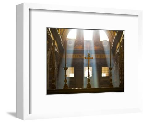 Crosses on Altar in St Peter's Basilica-Richard l'Anson-Framed Art Print