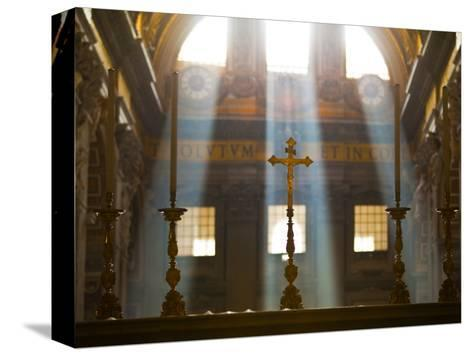 Crosses on Altar in St Peter's Basilica-Richard l'Anson-Stretched Canvas Print