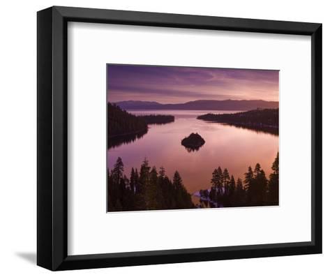 Winter Sunrise at Emerald Bay, Lake Tahoe-Witold Skrypczak-Framed Art Print