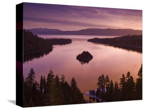 Winter Sunrise at Emerald Bay, Lake Tahoe-Witold Skrypczak-Stretched Canvas Print