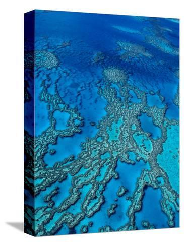 Aerial of Hardy Reef Offshore from Whitsundays Islands-Philip Game-Stretched Canvas Print