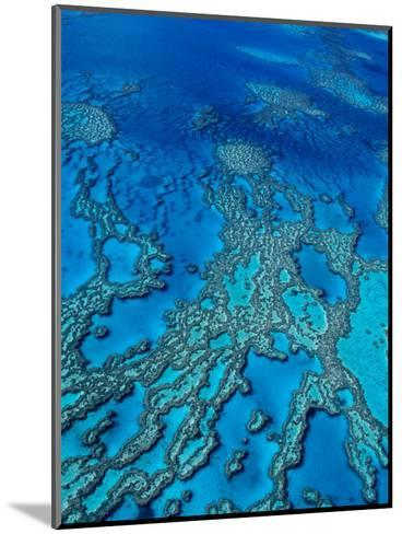 Aerial of Hardy Reef Offshore from Whitsundays Islands-Philip Game-Mounted Photographic Print