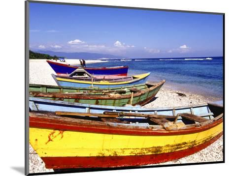 Fishing Boats on Beach-Greg Johnston-Mounted Photographic Print
