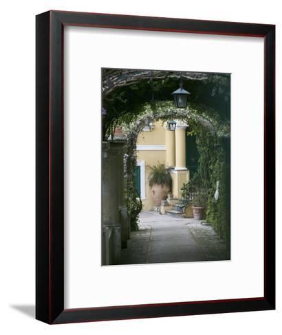 Lanterns Hanging in a Garden, Capri, Naples, Campania, Italy--Framed Art Print