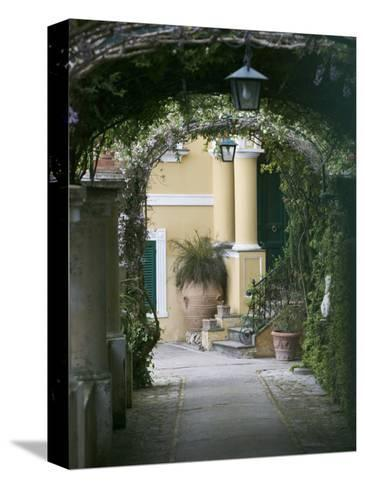 Lanterns Hanging in a Garden, Capri, Naples, Campania, Italy--Stretched Canvas Print
