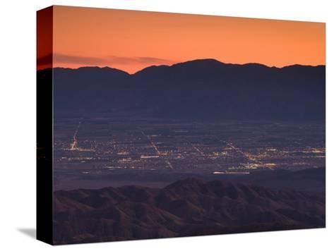 Coachella Valley And Palm Springs From Key's View, Joshua Tree National Park, California, USA--Stretched Canvas Print