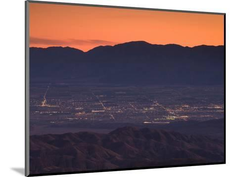 Coachella Valley And Palm Springs From Key's View, Joshua Tree National Park, California, USA--Mounted Photographic Print