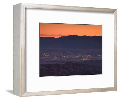 Coachella Valley And Palm Springs From Key's View, Joshua Tree National Park, California, USA--Framed Art Print