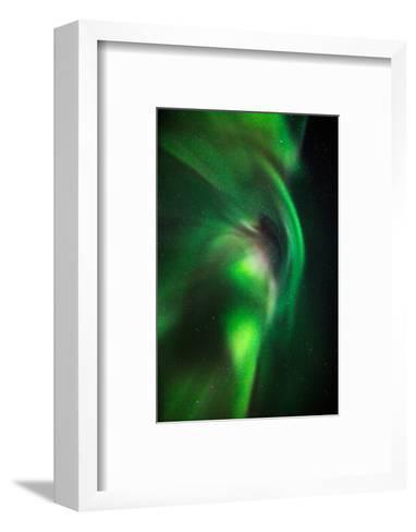 Aurora Borealis or Northern Lights, Lapland,Sweden--Framed Art Print