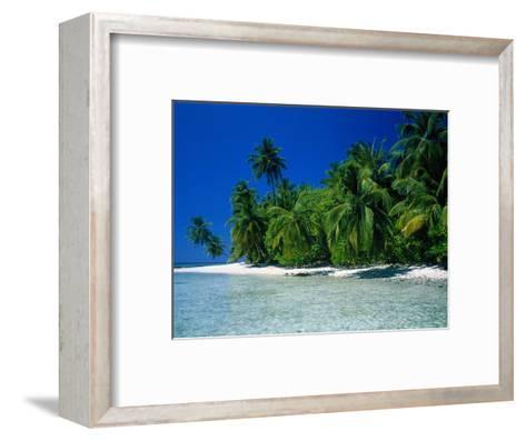 Beach Scene the Maldives--Framed Art Print