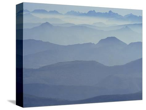 View from Mount Ventoux Looking Towards the Alps, Rhone Alpes, France, Europe-Charles Bowman-Stretched Canvas Print