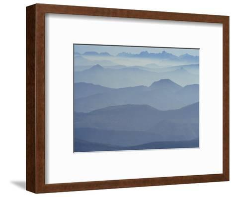 View from Mount Ventoux Looking Towards the Alps, Rhone Alpes, France, Europe-Charles Bowman-Framed Art Print