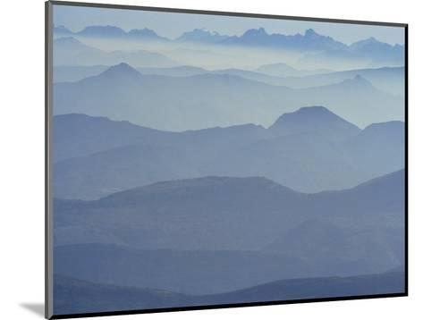 View from Mount Ventoux Looking Towards the Alps, Rhone Alpes, France, Europe-Charles Bowman-Mounted Photographic Print
