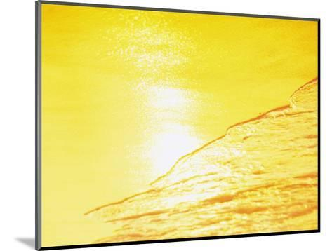 Sea Waves in Yellow with Sunlight--Mounted Photographic Print