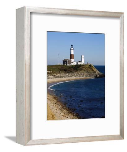 Montauk Point Lighthouse, Montauk, Long Island, New York State, USA-Robert Harding-Framed Art Print