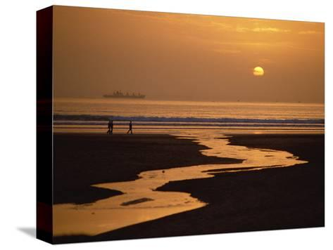 Sunset, Agadir Beach, Agadir, Morocco, North Africa, Africa-Robert Francis-Stretched Canvas Print