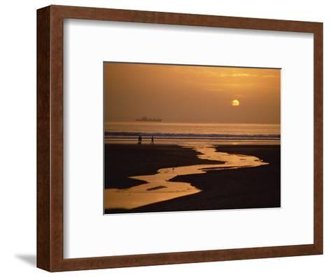 Sunset, Agadir Beach, Agadir, Morocco, North Africa, Africa-Robert Francis-Framed Art Print