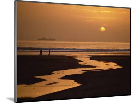 Sunset, Agadir Beach, Agadir, Morocco, North Africa, Africa-Robert Francis-Mounted Photographic Print