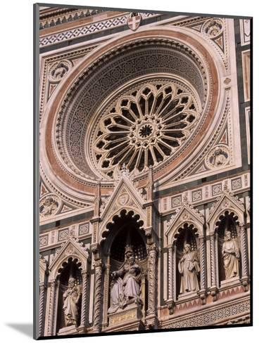 Rose Window and Facade of Polychrome Marble, Duomo Santa Maria Del Fiore, Florence, Tuscany, Italy-Patrick Dieudonne-Mounted Photographic Print