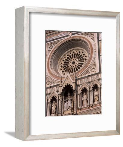 Rose Window and Facade of Polychrome Marble, Duomo Santa Maria Del Fiore, Florence, Tuscany, Italy-Patrick Dieudonne-Framed Art Print