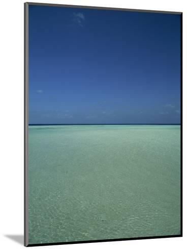 Turquoise Sea and Blue Sky, Seascape in the Maldives, Indian Ocean-Fraser Hall-Mounted Photographic Print