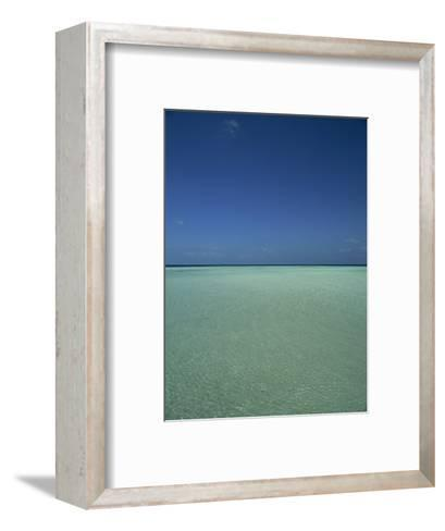 Turquoise Sea and Blue Sky, Seascape in the Maldives, Indian Ocean-Fraser Hall-Framed Art Print